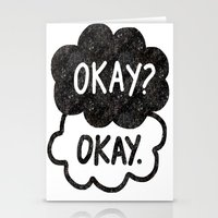 tfios Stationery Cards featuring OKAY?OKAY THE FAULT IN OUR STARS TFIOS HAZEL AUGUSTUS CLOUDS by monalisacried