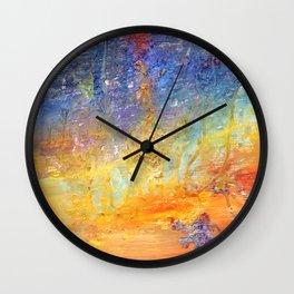 Delusional Sunset by Nadia J Art Wall Clock