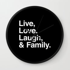 Live Love Laugh and Family Wall Clock