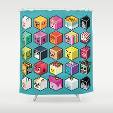 A.T. Cubies (40 CHARACTERS) Shower Curtain