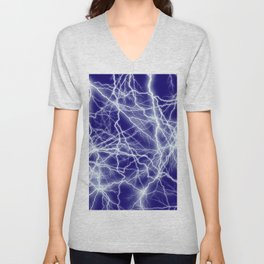 Electrical Lightning Sparks Unisex V-Neck