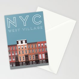 West Village NYC Travel Poster Stationery Cards