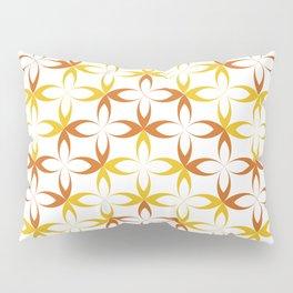 orange sylized schematic flower Pillow Sham