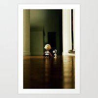 charlie brown Art Prints featuring Charlie Brown & Snoopy by Nima Nakhshab