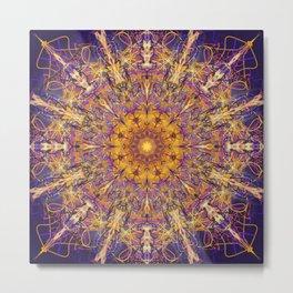 Daggerbloom Mandala Metal Print