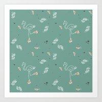 Estampa Flamingo - 01 Art Print