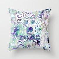fairy tail Throw Pillows featuring Fairy Tail by Marta Olga Klara