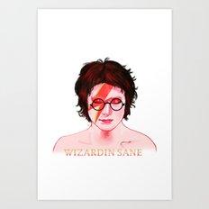 Wizardin Sane Art Print