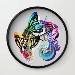 Butterfly Koi Wall Clock