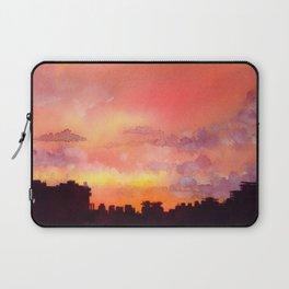 Minsk sunset skyline in watercolours Laptop Sleeve