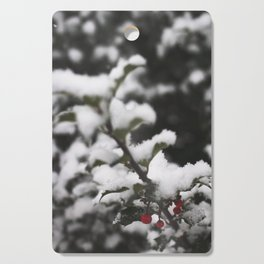 Winter Holly Cutting Board