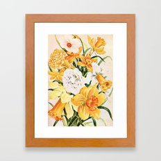 Wordsworth  and daffodils. Framed Art Print