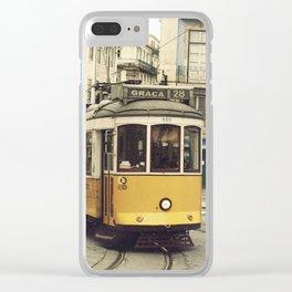 Tram numero 28 Clear iPhone Case