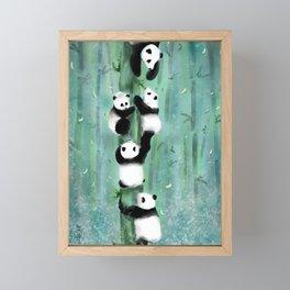 Panda Playtime Framed Mini Art Print