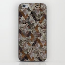 Wood Quilt iPhone Skin