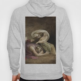Witch of Endor raising the spirit of Samuel  by William Blake (1752-1827) Hoody