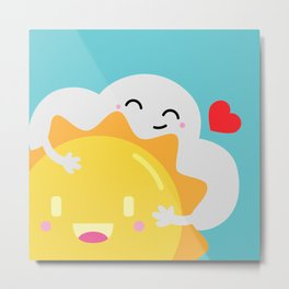 Partly Cloudy and Partly Sunny Love Metal Print