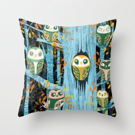 Overnight Owl Conference Throw Pillow