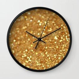 Glittered Gold Wall Clock