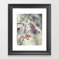 Snow Falling Framed Art Print