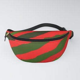 Merry Red Green Holiday Stripes Fanny Pack