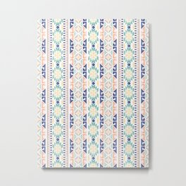 Ethnic Seamless Pattern Metal Print