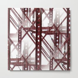 Red Steel Construction Metal Print