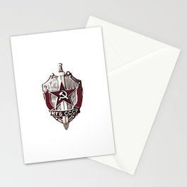 KGB Badge Stationery Cards