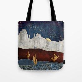 Moonlit Desert Tote Bag