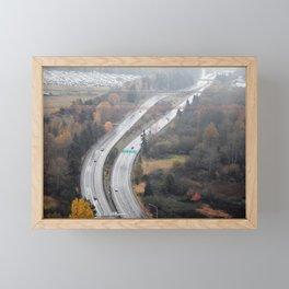 Seattle Road Framed Mini Art Print
