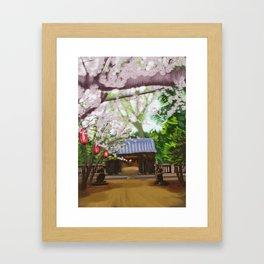 Cherry trees in Japan Framed Art Print