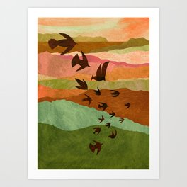 abstract birds art prints society6