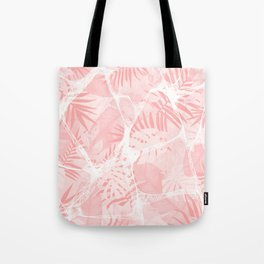 Abstract Soft Pink Tropical Design Tote Bag