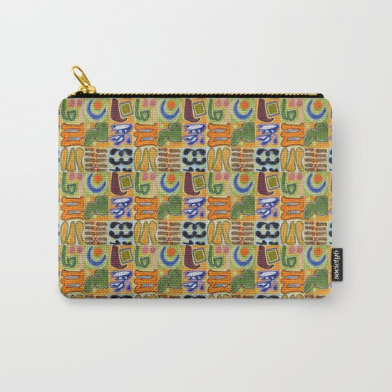 Narrative and Symbolic Signs Pattern Carry-All Pouch