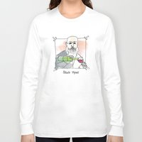 monet Long Sleeve T-shirts featuring Claude Monet by Lucy Weigard