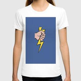 A vectorised Roy Lichtenstein, lining bolt. T-shirt