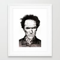 clint eastwood Framed Art Prints featuring Clint Eastwood by Danielle Ross