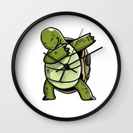 Funny Dabbing Tortoise Pet Dab Dance Wall Clock