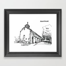 The church of sorrow: Pampigny Framed Art Print