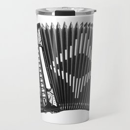 Accordion being squeezed Travel Mug