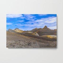 Sierra Negra Volcano, Galapagos, Ecuador Metal Print