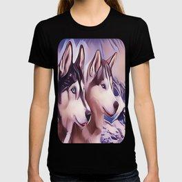 A Pair of Siberian Huskys T-shirt