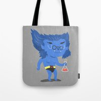 beast Tote Bags featuring Beast by Rod Perich