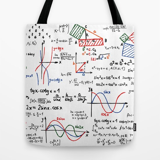 Math cheat sheet tote bag by pixelstory society6 ccuart Gallery
