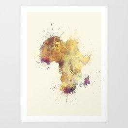 Africa map 5 #africa Art Print