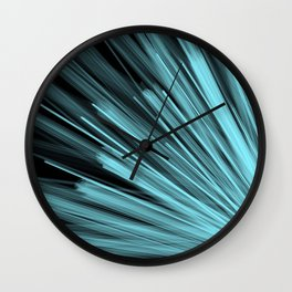 Aqua Angular Wall Clock