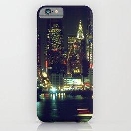 New York City Night Skyline iPhone Case