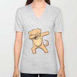 Dabbing Labrador T Shirt Men Women Retriever Lab Labs Dog Gift Unisex V-Neck