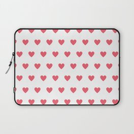 Polka dot hearts - pink Laptop Sleeve