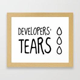 Developers' Tears Framed Art Print